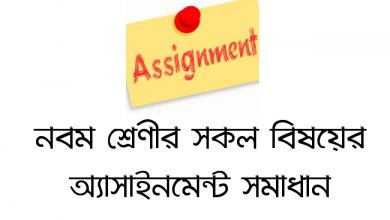 class 9 assignment answer