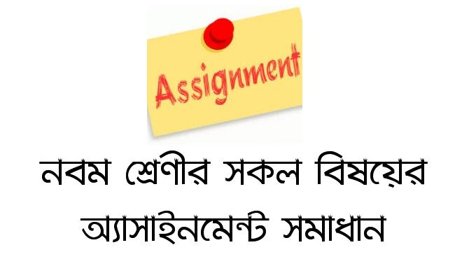 class 9 assignment answer